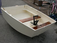 The finished dinghy